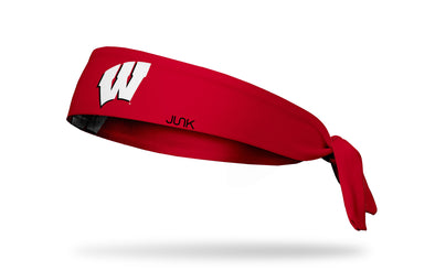 University of Wisconsin: Logo Red Tie Headband