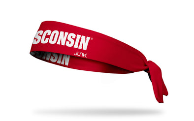 University of Wisconsin: Wordmark Red Tie Headband