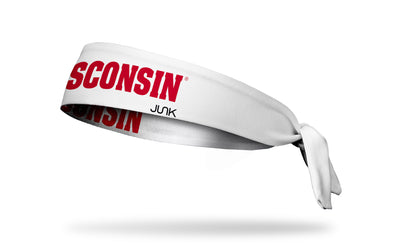 University of Wisconsin: Wordmark White Tie Headband