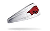 University of Arkansas: Razorback White Headband