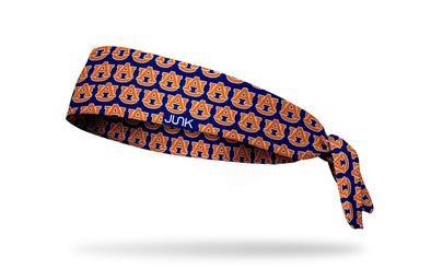 Auburn University: Navy Repeating Pattern Tie Headband