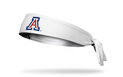 University of Arizona: A Logo White Tie Headband