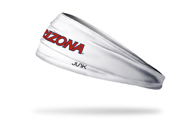 University of Arizona: Wordmark White Headband