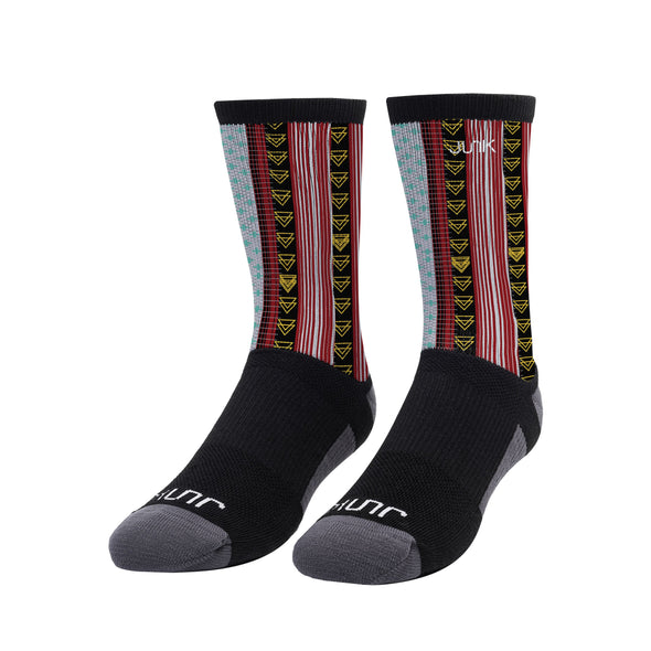 Baja Grid Athletic Crew Sock