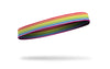 rainbow colored thin band headband