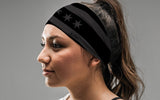 Chicago Flag Black and Charcoal Headband