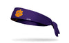 Clemson Tigers: Logo Purple Tie Headband