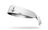 Delta Gamma (DG) Anchor White Tie Headband