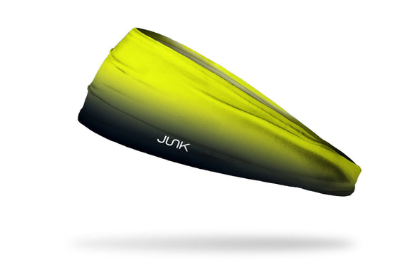 neon yellow to black fade gradient headband