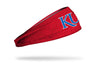 University of Kansas: KU Heathered Red Headband