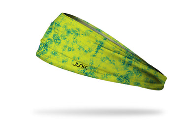 green yellow tie dye headband