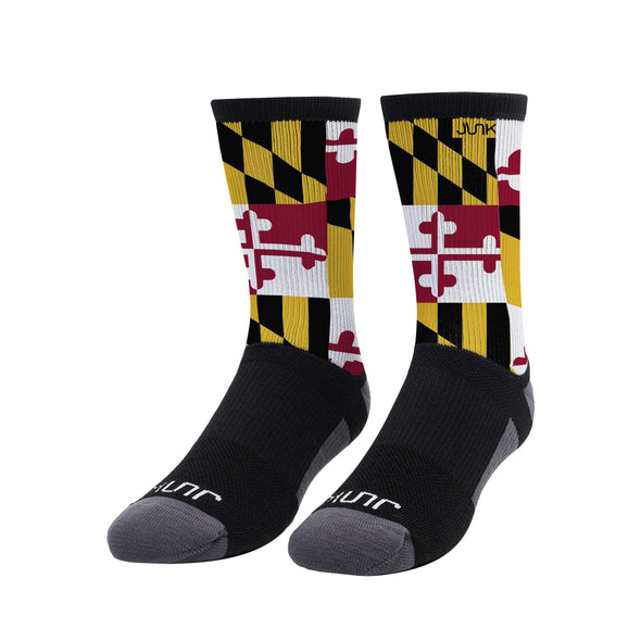 Maryland Flag Athletic Crew Sock
