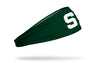 Michigan State University: S Logo Green Headband