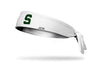Michigan State University: S Logo White Tie Headband
