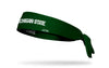 Michigan State University: Wordmark Green Tie Headband