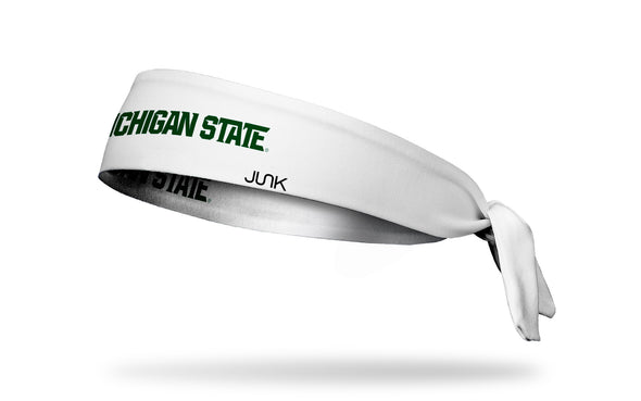 Michigan State University: Wordmark White Tie Headband