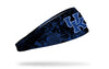 black headband with University of Kentucky letter logo in royal blue