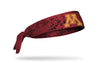 maroon headband with black grunge overlay and University of Minnesota M logo in gold