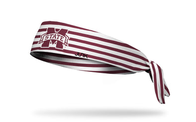 Mississippi State University: Stripes Tie Headband