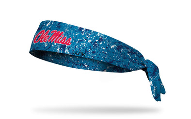 University of Mississippi: Splatter Light Blue Headband
