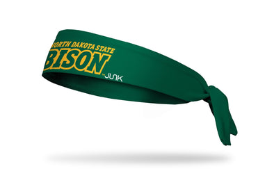 North Dakota State University: Wordmark Green Tie Headband
