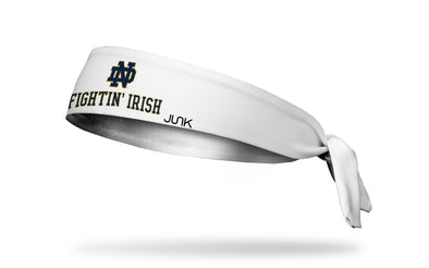 University of Notre Dame: Fightin' Irish White Tie Headband