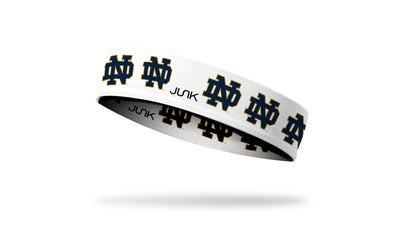University of Notre Dame: Logo White Headband