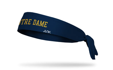University of Notre Dame: Wordmark Navy Tie Headband