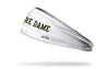 University of Notre Dame: Wordmark White Headband