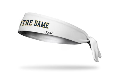 University of Notre Dame: Wordmark White Tie Headband