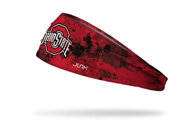 red headband with grunge overlay and Ohio State logo