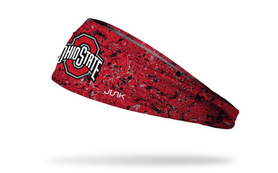 red headband with paint splatters and Ohio State logo