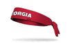 University of Georgia: Wordmark Red Tie Headband