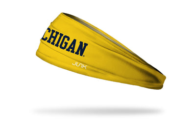 University of Michigan: Wordmark Maize Headband