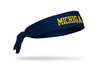 University of Michigan: Wordmark Blue Tie Headband
