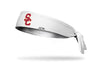 white headband with University of Southern California logo