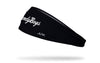 black headband with Vanderbilt University vandy boys script logo in white