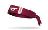 Virginia Tech: Helmet Maroon Tie Headband