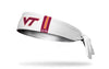 Virginia Tech: Helmet White Tie Headband