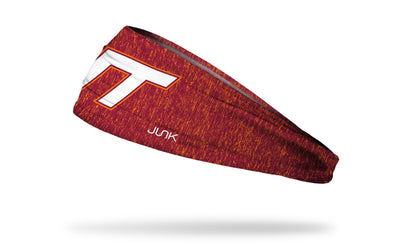 Virginia Tech: Orange Maroon Heather Headband
