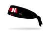 University of Nebraska: State Black Tie Headband
