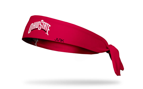 Ohio State: Wordmark Scarlet Tie Headband