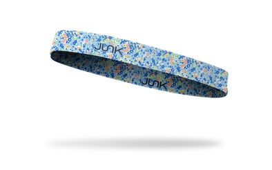 pastel colored floral design on thin band headband