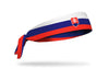 headband with traditional Slovakia flag design
