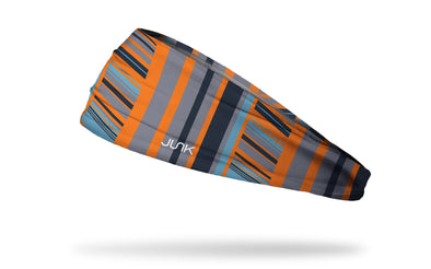 orange navy white speed stripe headband