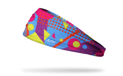 90's themed bright neon colors headband with pop art lines trapper keeper