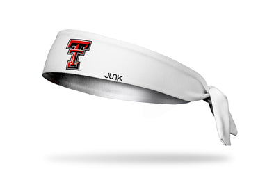 Texas Tech University: Logo White Tie Headband