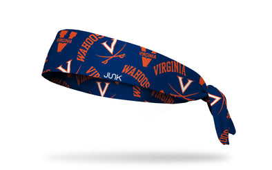 University of Virginia: Overload Navy Tie Headband