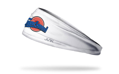 white headband with Space Jam Tune Squad logo in full color