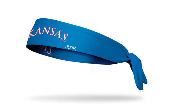 University of Kansas: Wordmark Royal Tie Headband